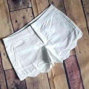 🛒 Harper White Scalloped Shorts Size S